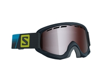 Детская маска Salomon Juke Racing Black / Tonic Orange Mirror Silver