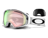 Маска Oakley Airbrake Polished White/H.I. Yellow + Dark Grey