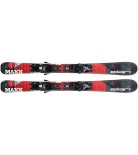 Горные лыжи Elan Maxx Red QS 100-120 + крепления EL 4.5 Shift