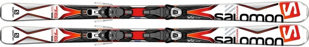 Горные лыжи Salomon X-Drive 7.5 + крепления Lithium 10