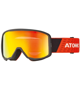 Детская маска Atomic Count JR Cylindrical Black Red / Red