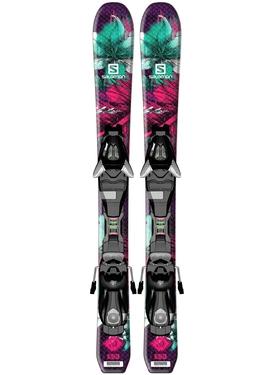 Горные лыжи Salomon Q-Lux Jr XS + крепления EZY5