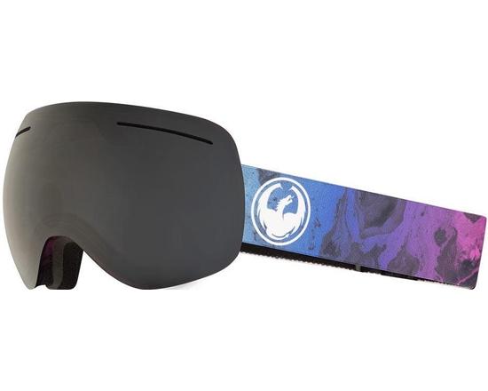 Маска  Dragon X1 Ink / Dark Smoke + Lumalens Flash Blue