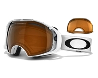 Маска Oakley Airbrake Polished White / Black Iridium + Persimmon